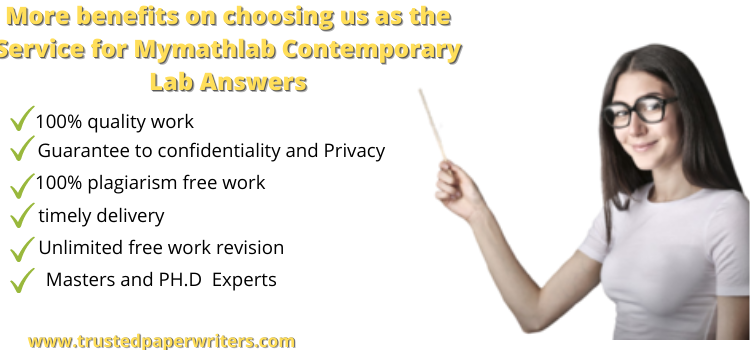 Best service for Mymathlab Contemporary Lab Answers