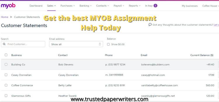 Myob Assignment Help