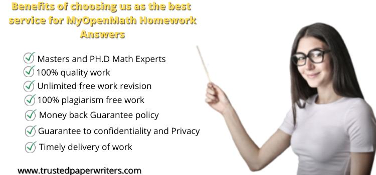 Best service for MyOpenMath Homework Answers