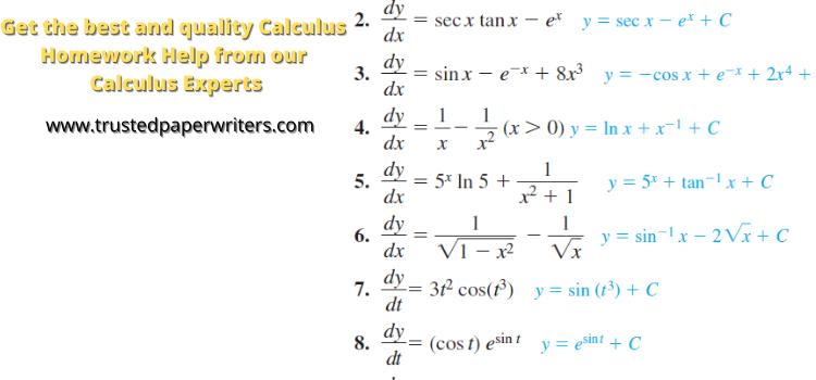 Best Calculus Homework Helpers